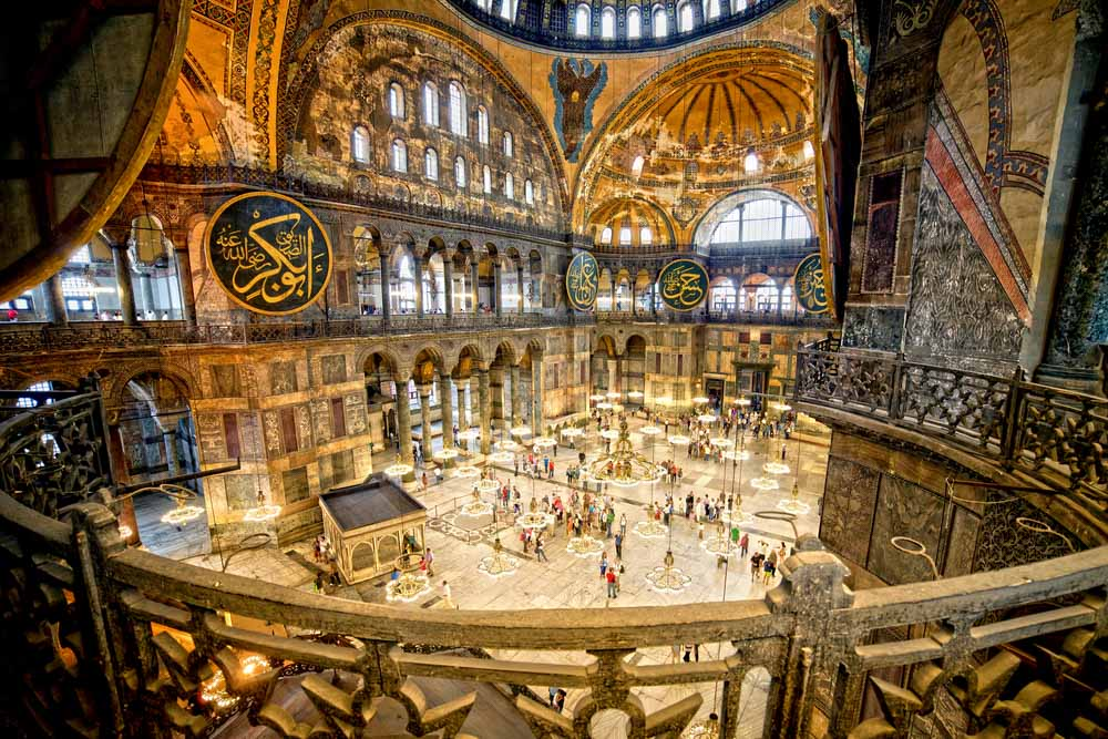 Hagia Sophia, view from the upper gallery is one of the best things to do in 48 hours in Istanbul