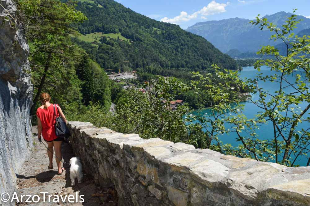 Hiking down to the viewpoint with Arzo Travels