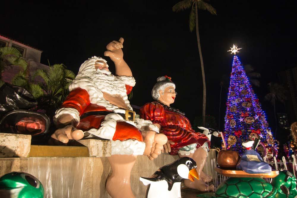 Honolulu City Lights in winter
