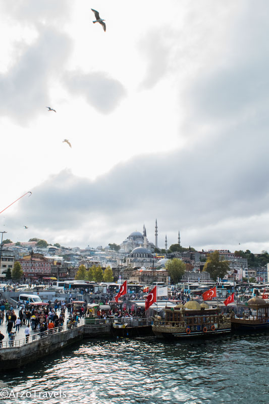 Istanbul from Galata Bridge view_