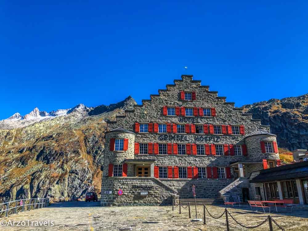Mountain stops in Switzerland
