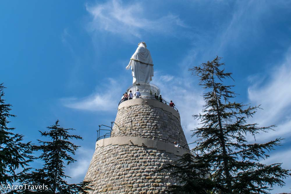 Our Lady in Lebanon Statu