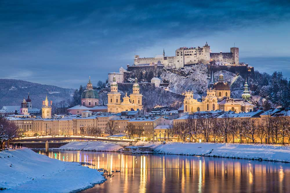 Salzburg , Austria in winter is a fun day trip from winter