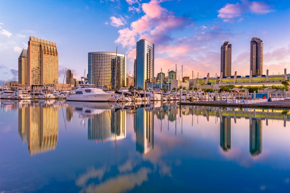 San Diego, California, USA downtown city skyline