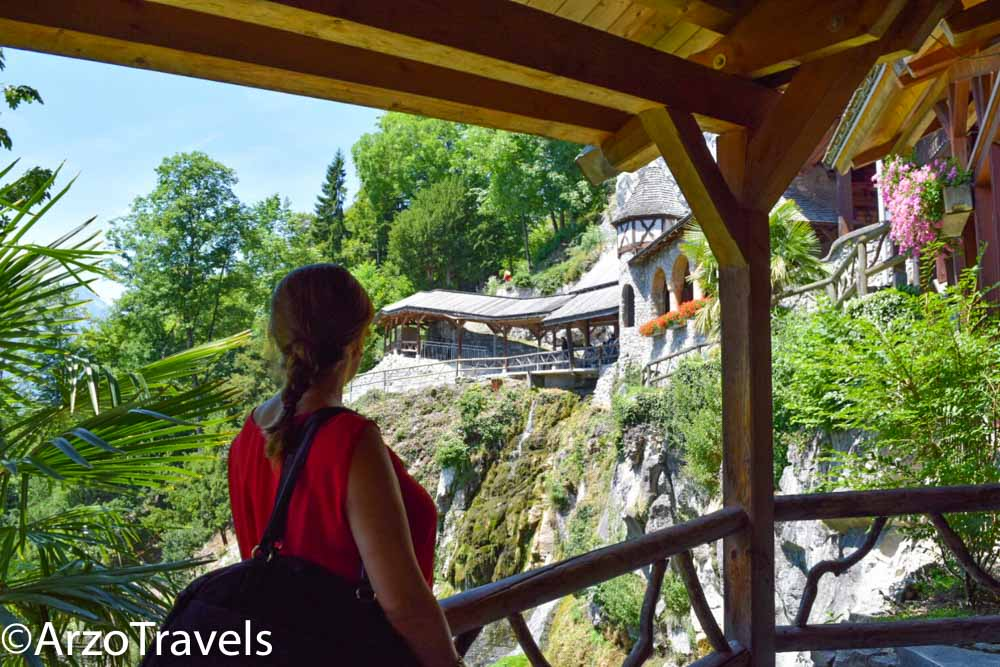 St. Beatus Caves in Switzerland from outside Arzo Travels_