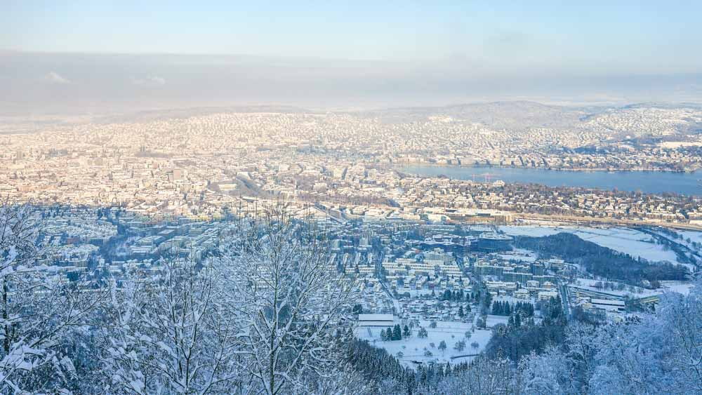 Uetliberg in Winter is one of the best places to visit in Zurich