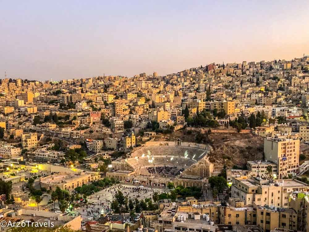 View from Citadel in Amman
