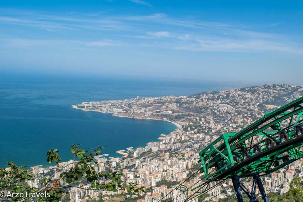View from Harissa Teleferique