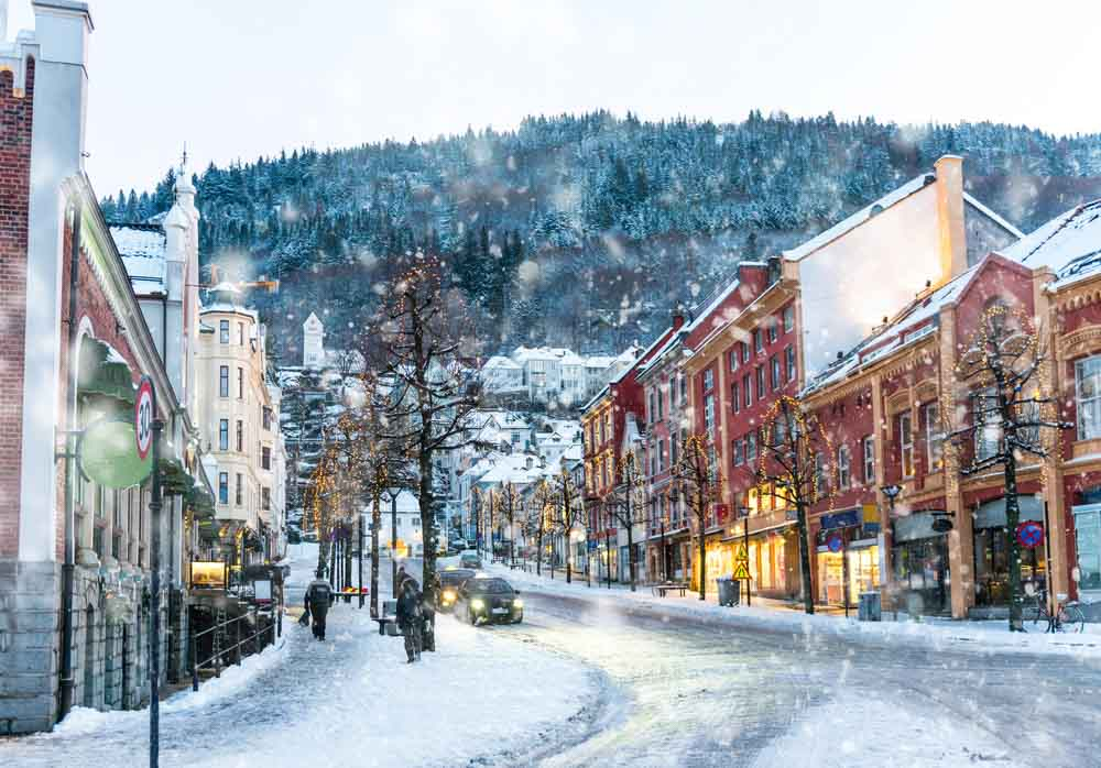 Bergen, Norway in winter a must see place