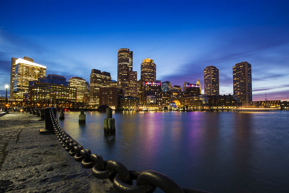 Boston Skyline from Downtown Harborwalk