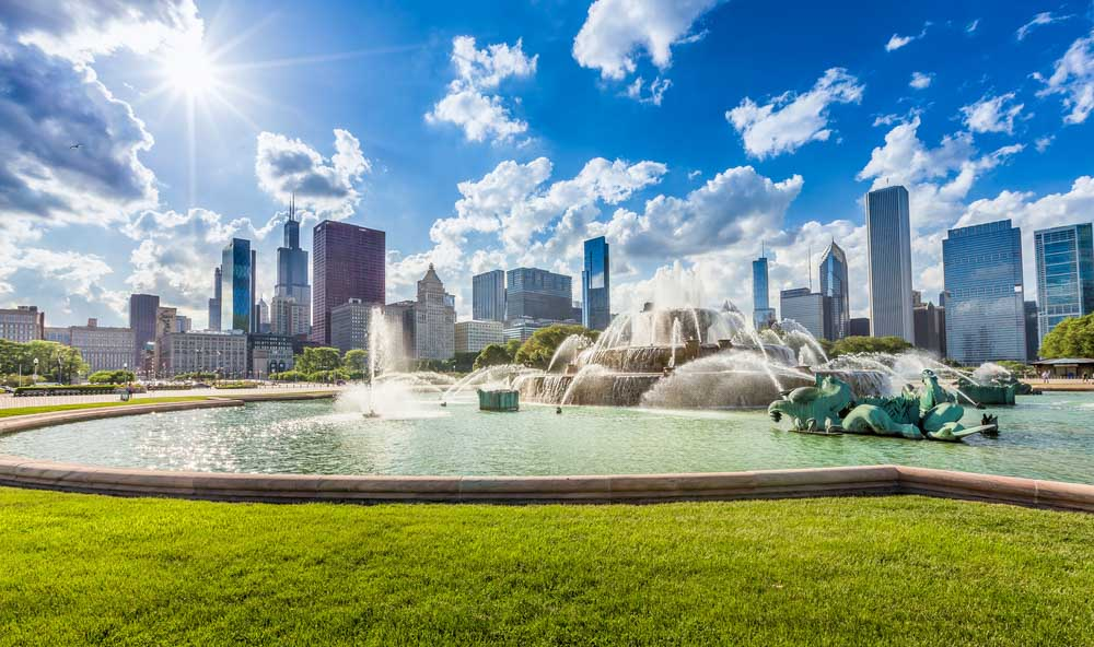 Buckingham fountain and Chicago itinerary