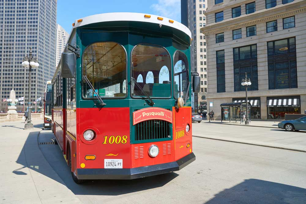 Chicago Trolley at Chicago downtown best tips for 3 days