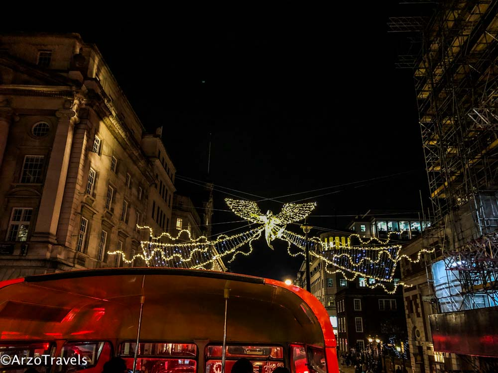 Christmas Bus Light Tour Regent Street