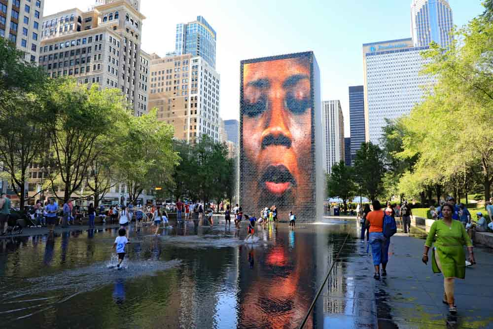 Crown Fountain in Millennial Park top place to see in 3 days