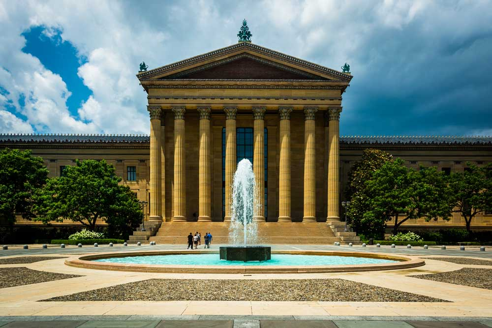 Fountain and the Art Museum in Philadelphia, Pennsylvania