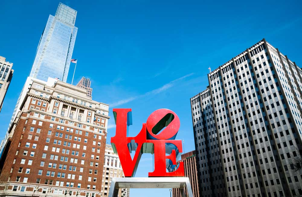 LOVE Park in Phildalphia itinerary for 3 days