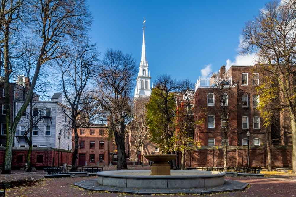 Old North Church in Boston, visiting is one of the best things to do in 3 days