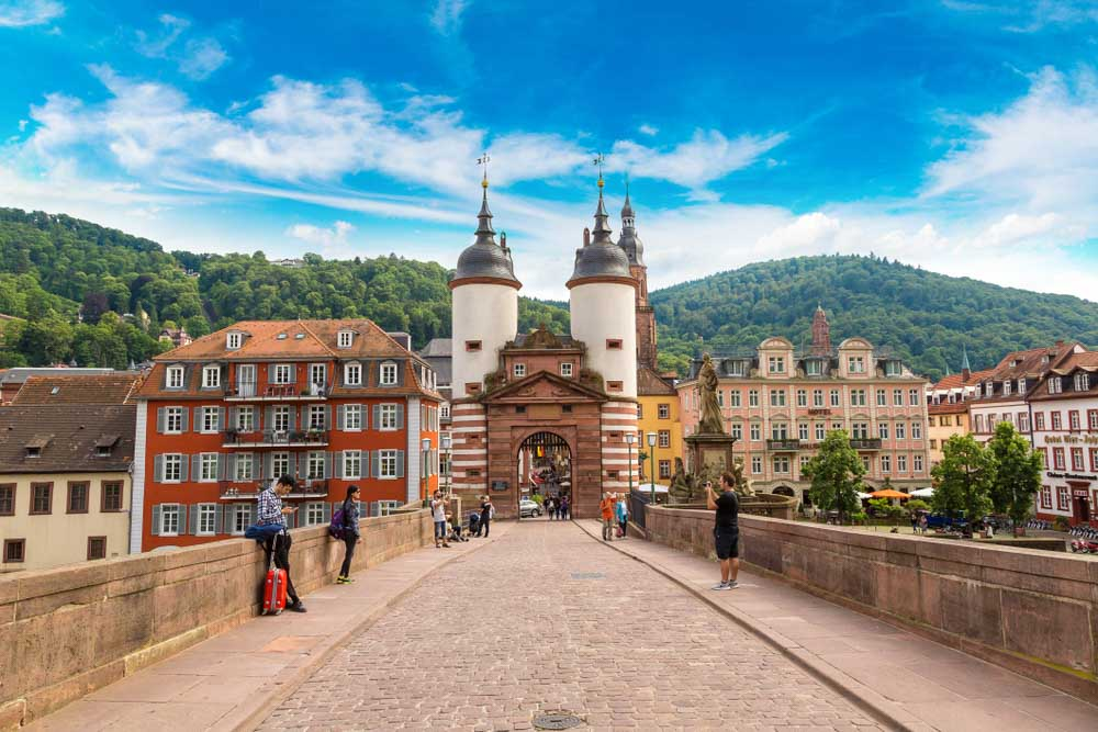 Old bridge in Heidelberg is best day tour from Strasbourg