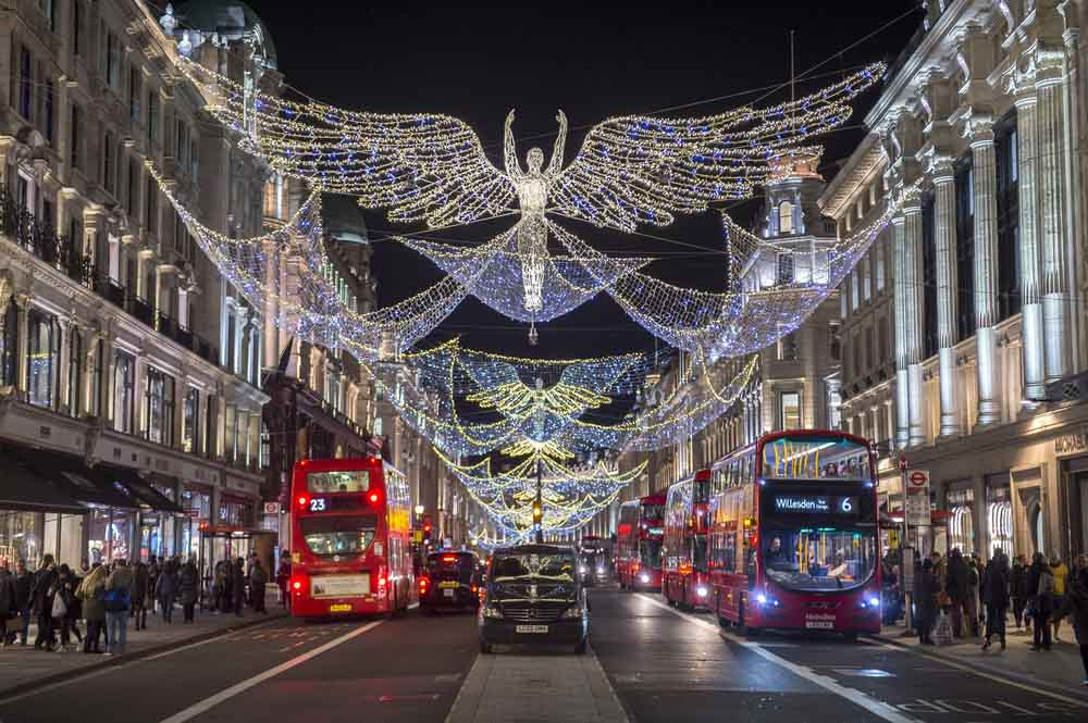 Regent Streets in London is one best things to do in Decmeber