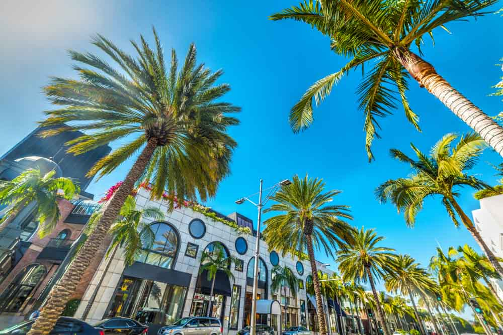 Rodeo Drive, Beverly Hills. California, USA one of the top things to do in LA in 3 days