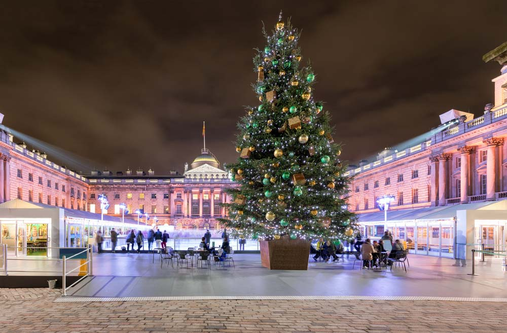 Somerset House in Central London is one of the best places to visit in winter in London
