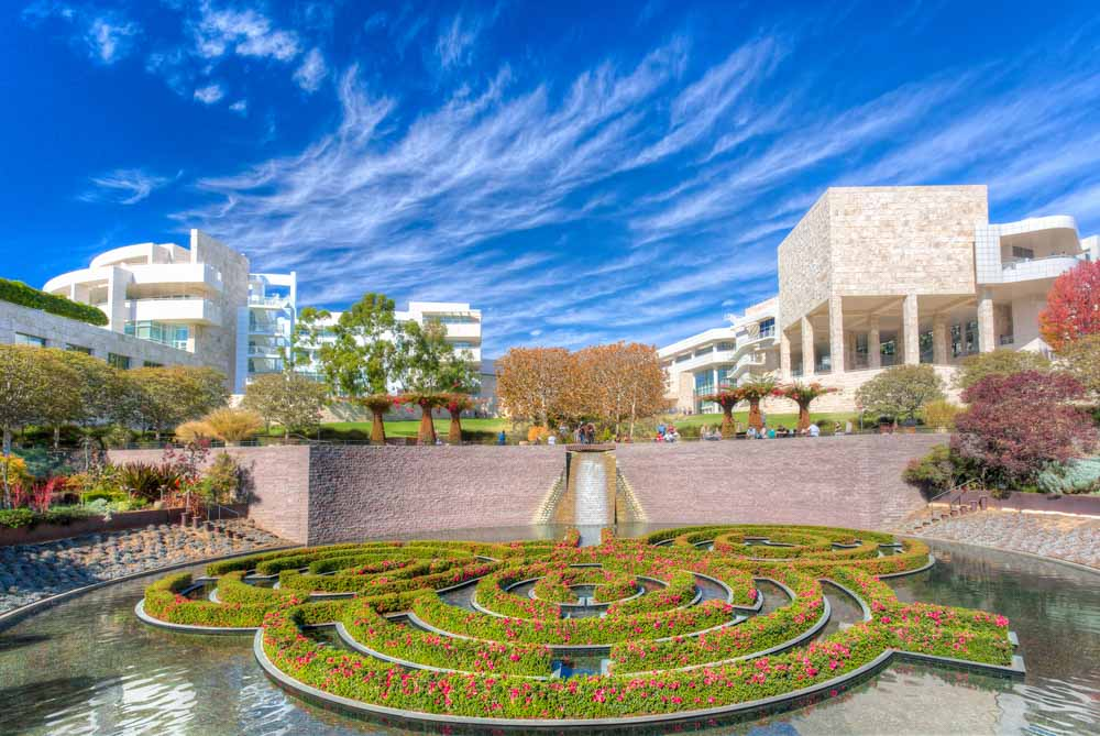The Central Garden at the Getty Center in a 3-day itinerary LA