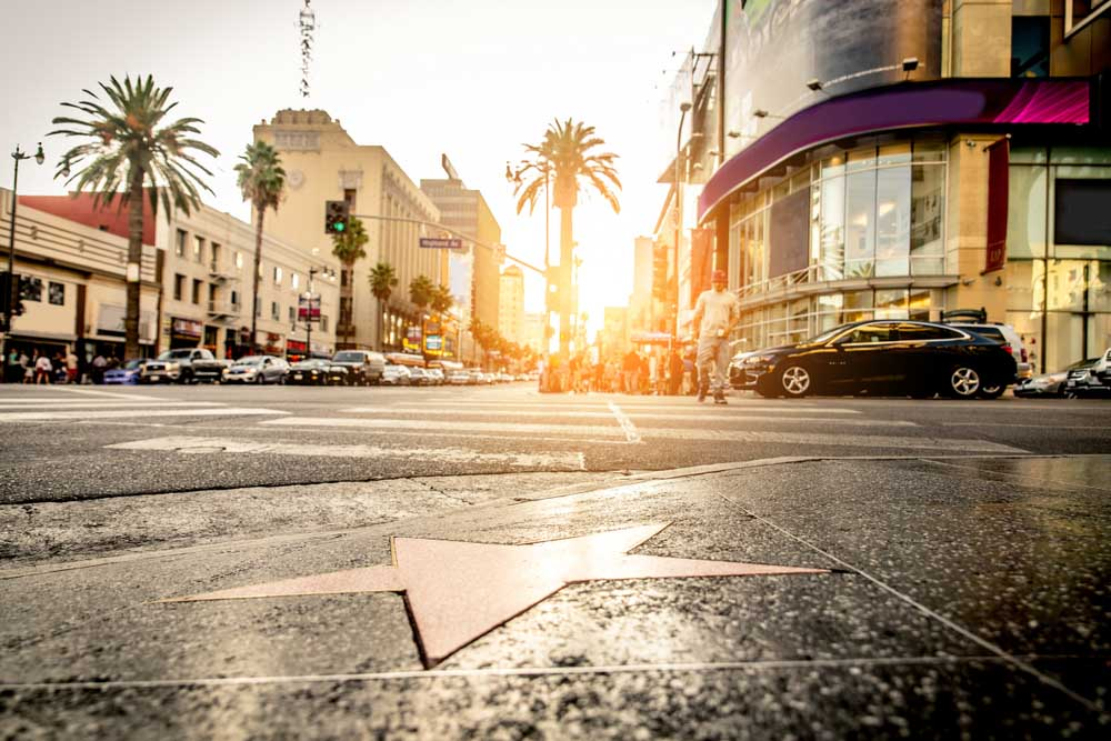 Walk of Fame at sunset on Hollywood Boulevard where to go in 3 days