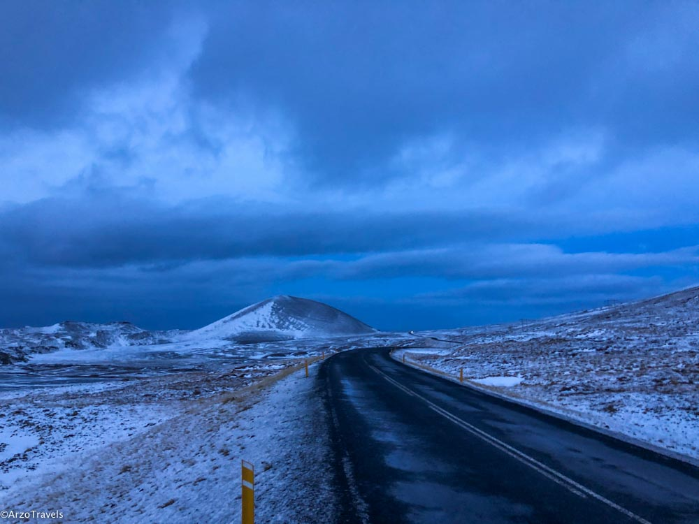 Driving in December in Iceland