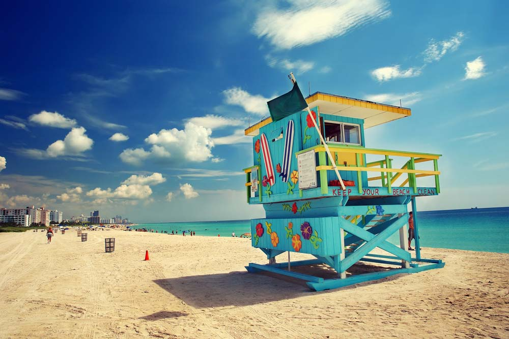 South Beach in Miami, Florida_