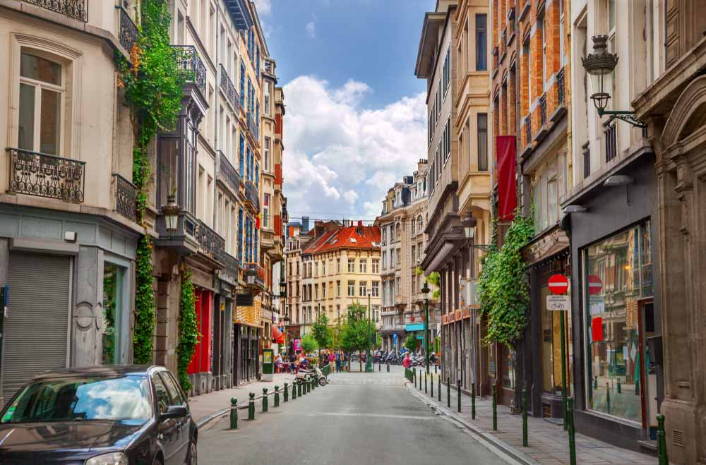 Street in Brussels_