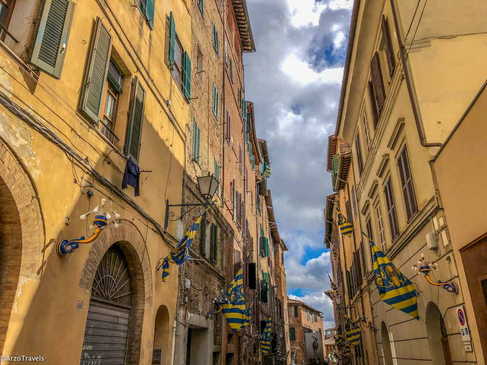 Streets of Siena in 24 hours