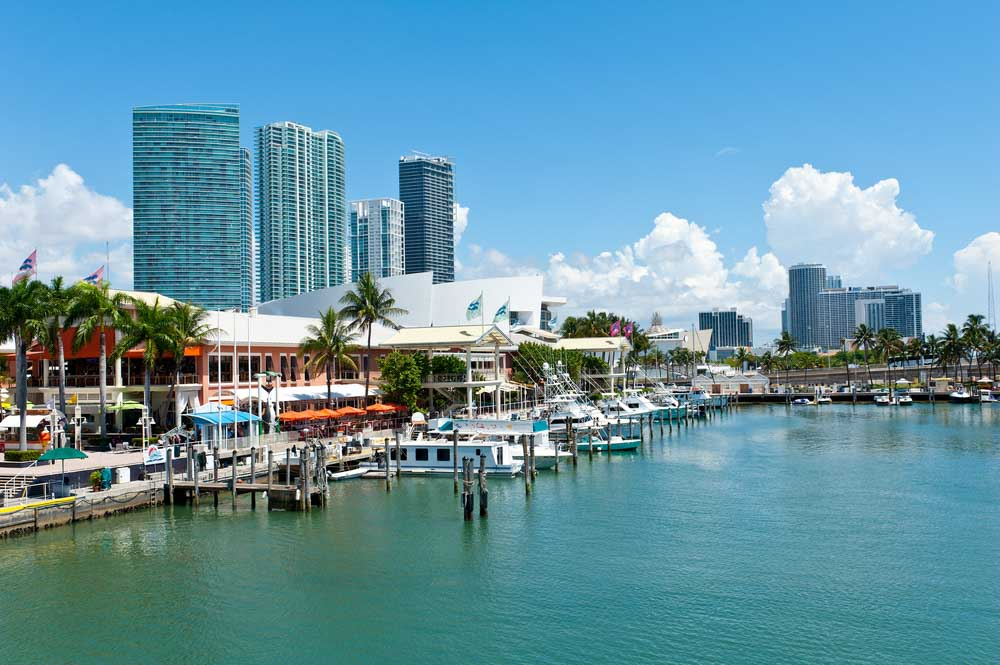 View of the Miami Bayside Marketplace.
