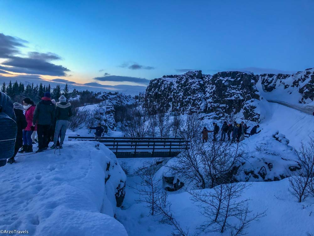 Winter in Iceland at suunrise