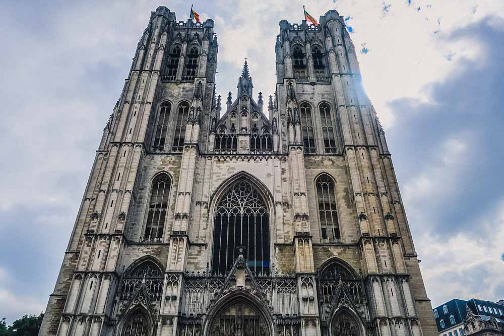 brussels cathedral a main tourist attraction in Brussel in 2 days