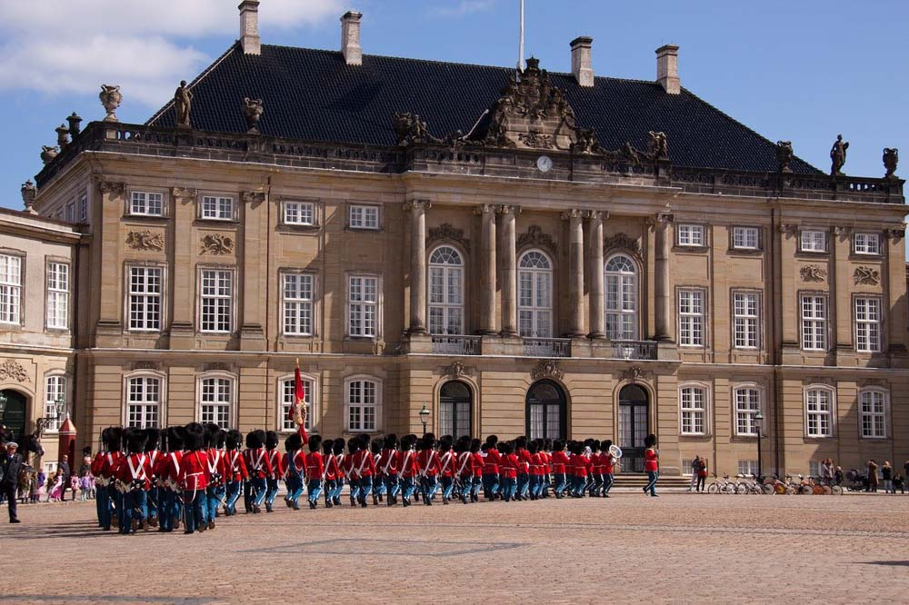 Amalienborg Castle in Copenhagen