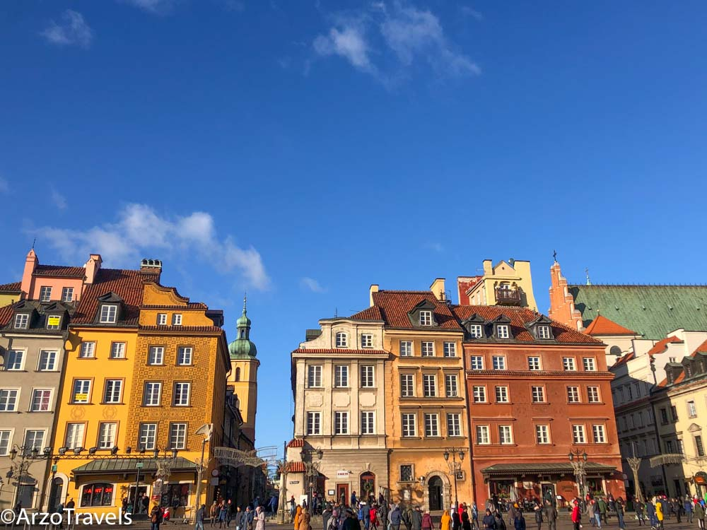 Castle Square in Warsaw itinerary