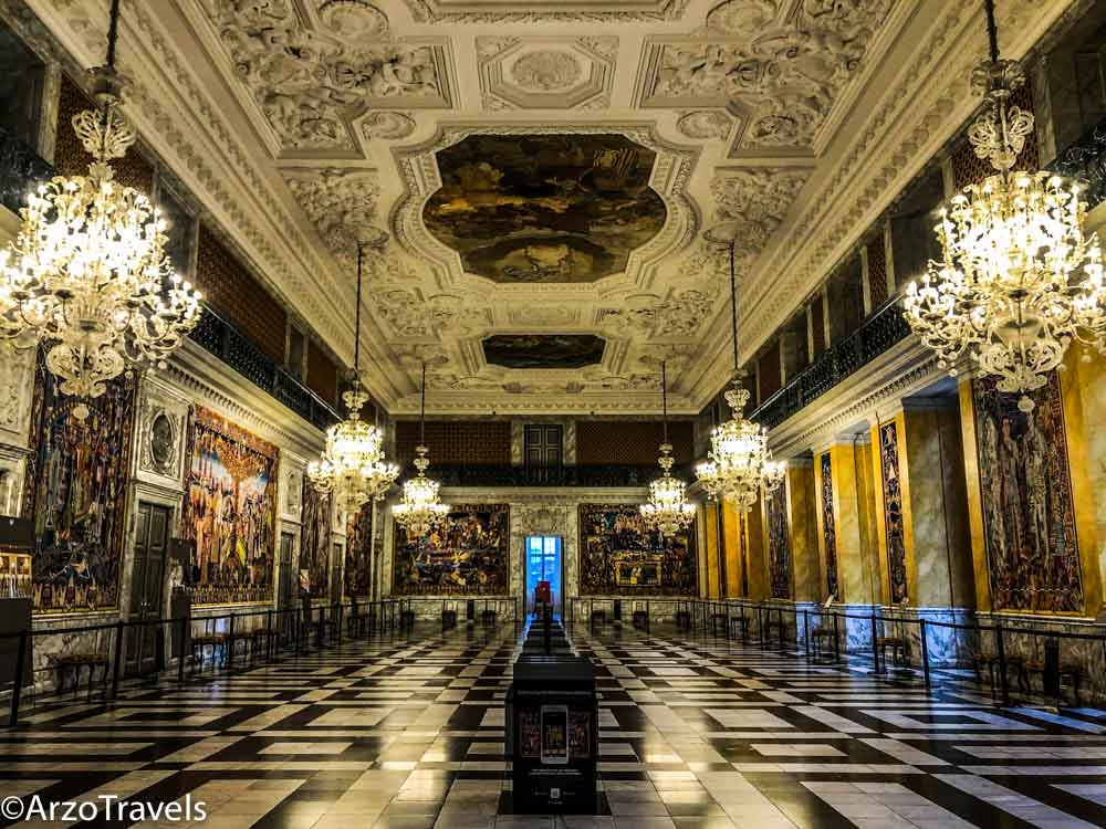 Christianbourg Palace in Copenhagen places to visit in 3 days