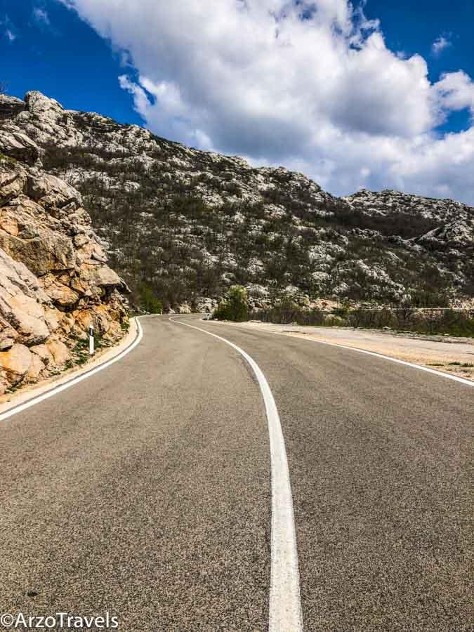 Mountain street in Croatia