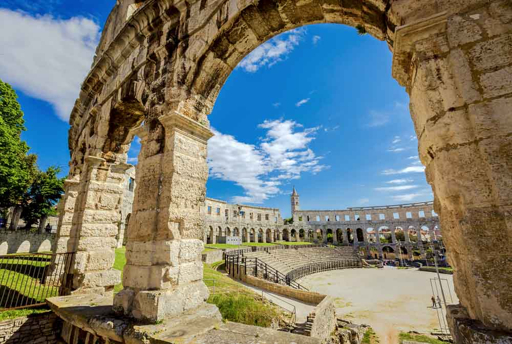 Pula Amphitheatre a must for Crotia road trip itinerary