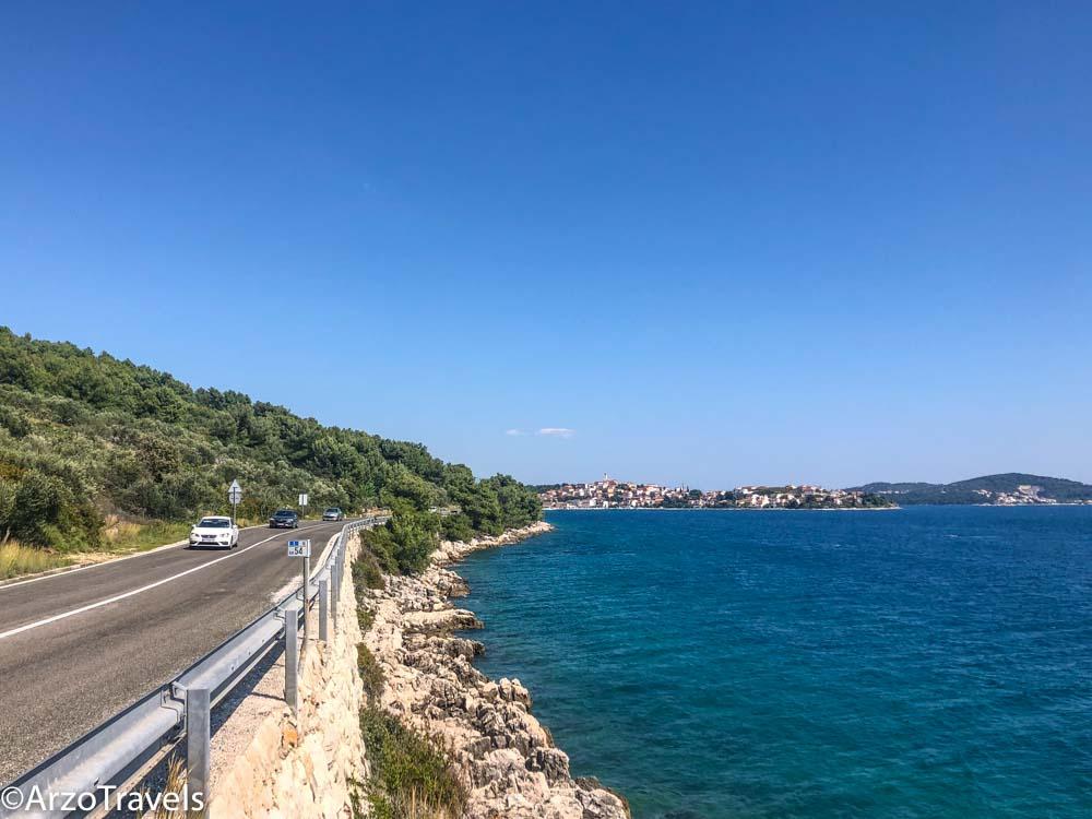 Street in Croatia, driving