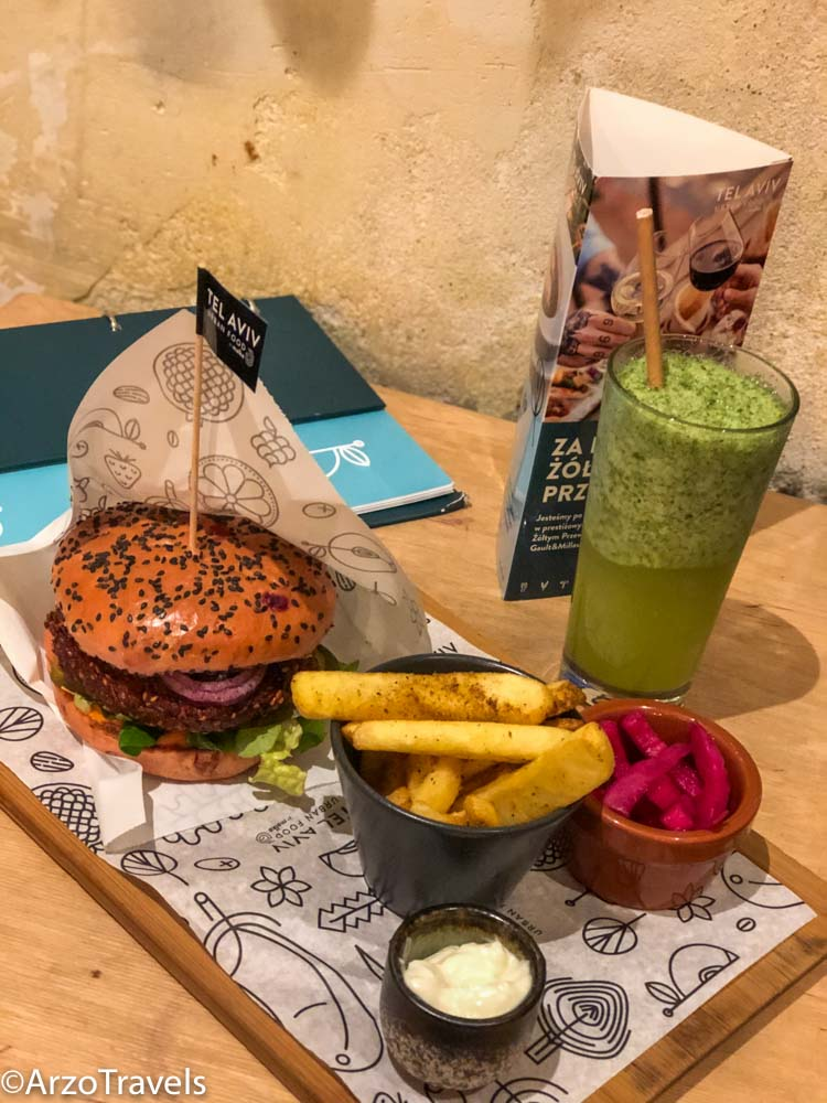 Vegan burger in Warsaw