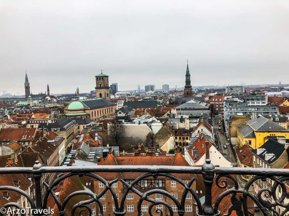 View from Round Tower in Copenhagen