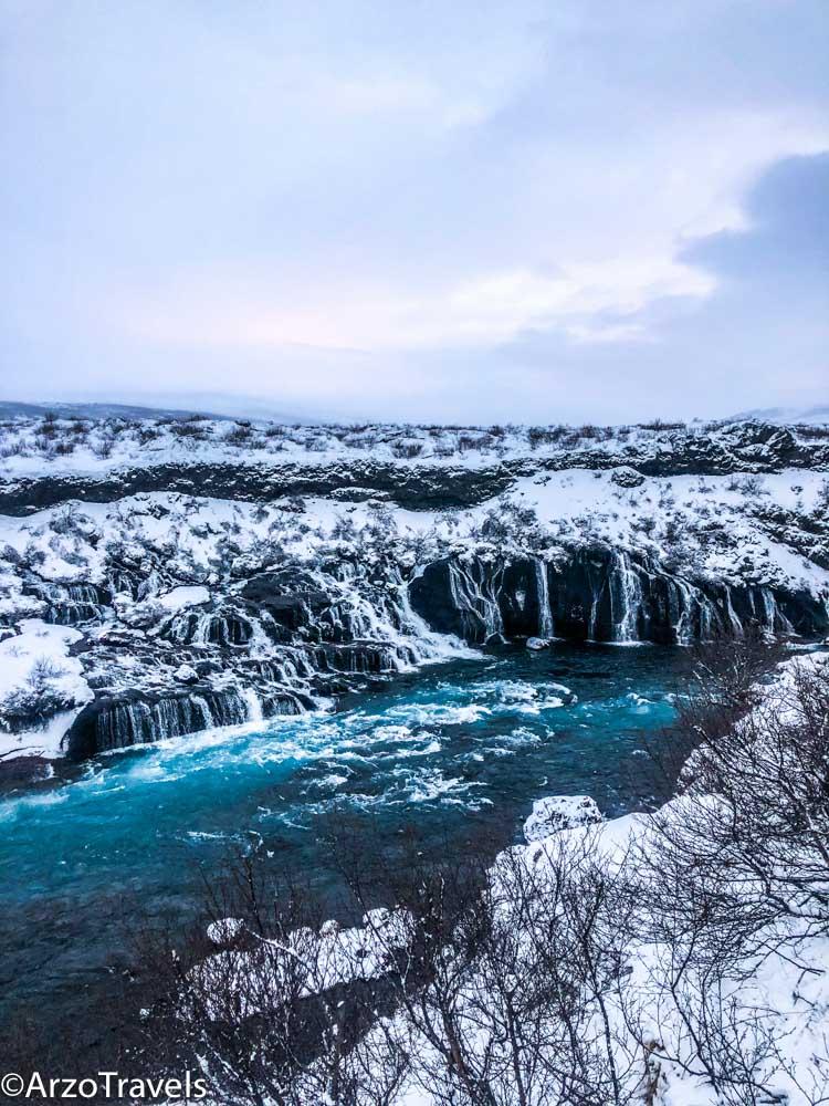 Hraunfossar waterfall tour from Reykjavik