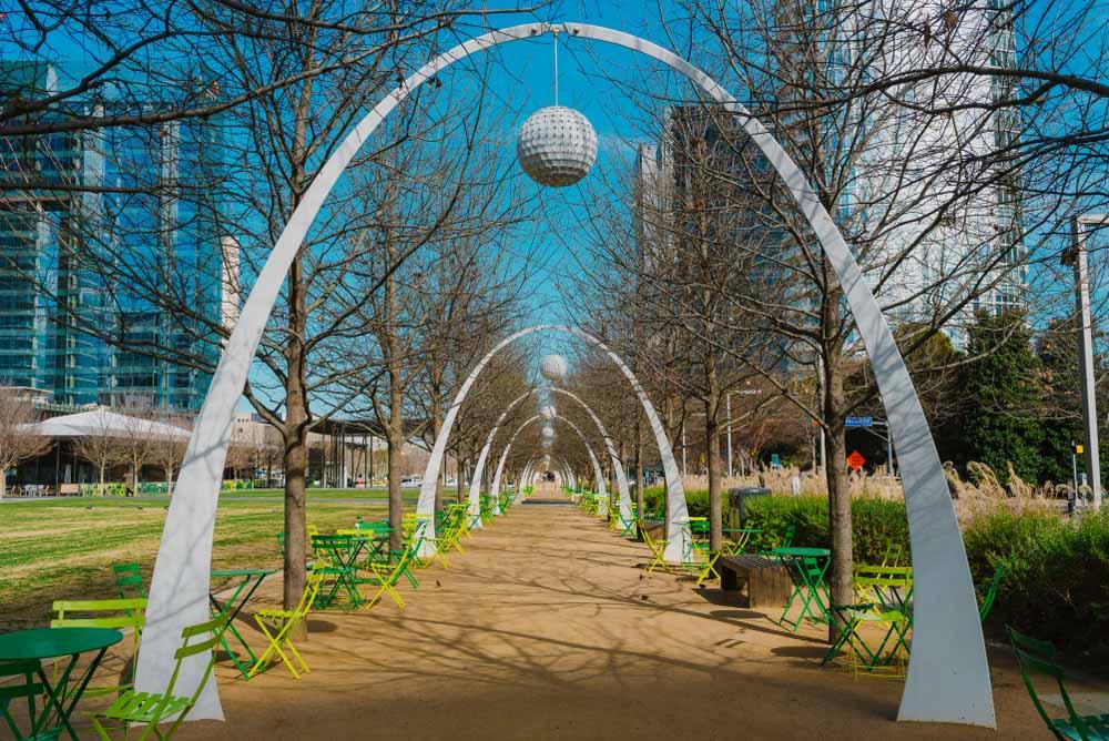 Klyde Warren Park, Downtown Dallas, Texas