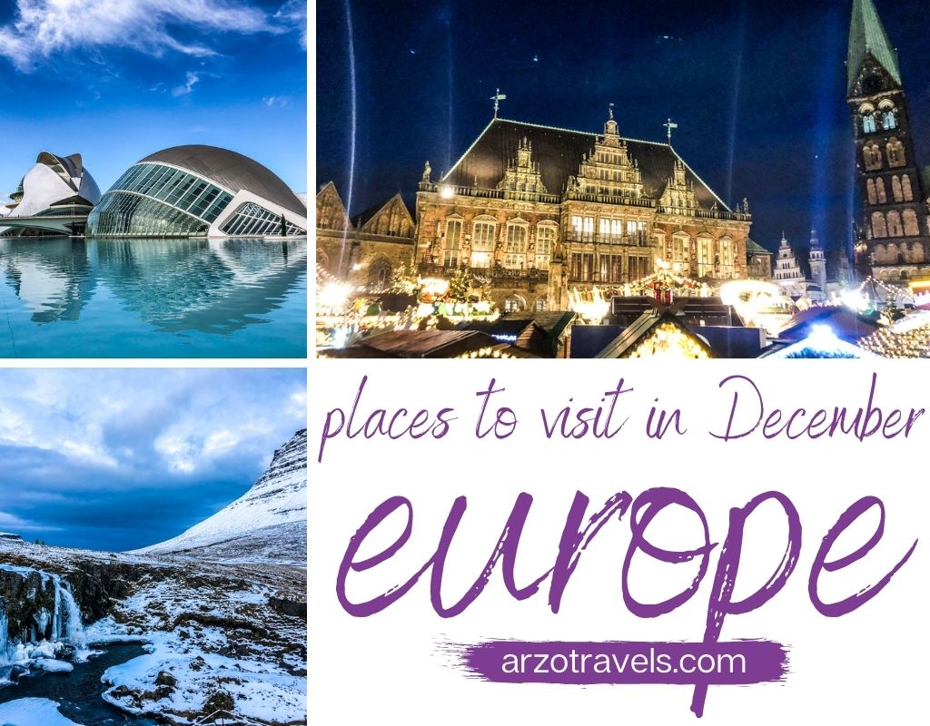 Places to visit in December in Europe