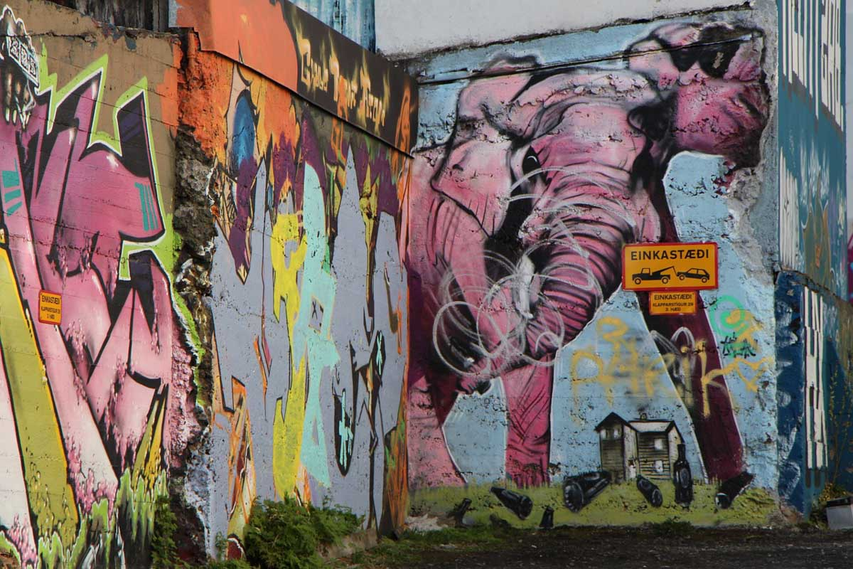 Street art is one of the best things to do in Reykjavik in winter