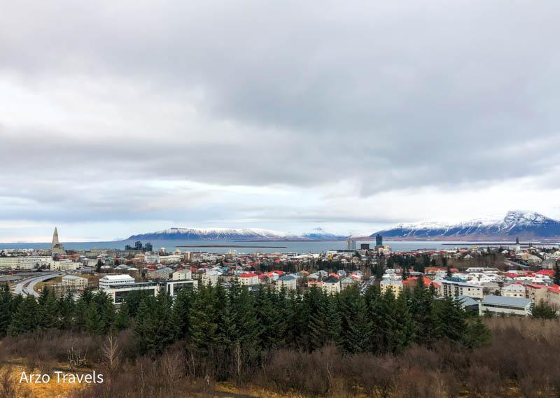 View of Reykjavik in Perlan