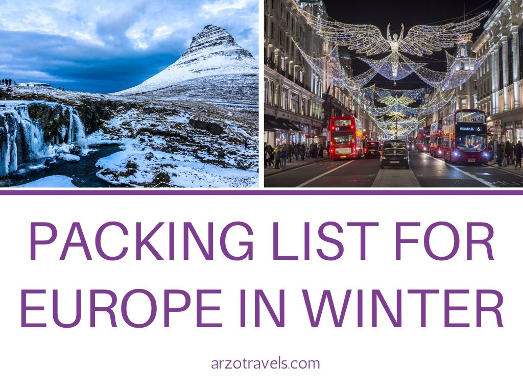 WHAT TO PACK FOR EUROPE IN WINTER
