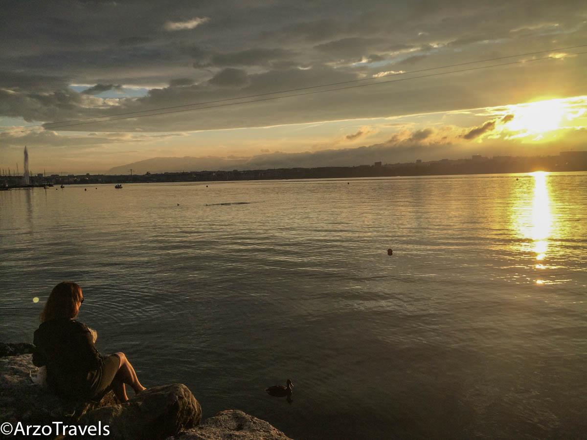 Lake Geneva at sunset ArzoTravels
