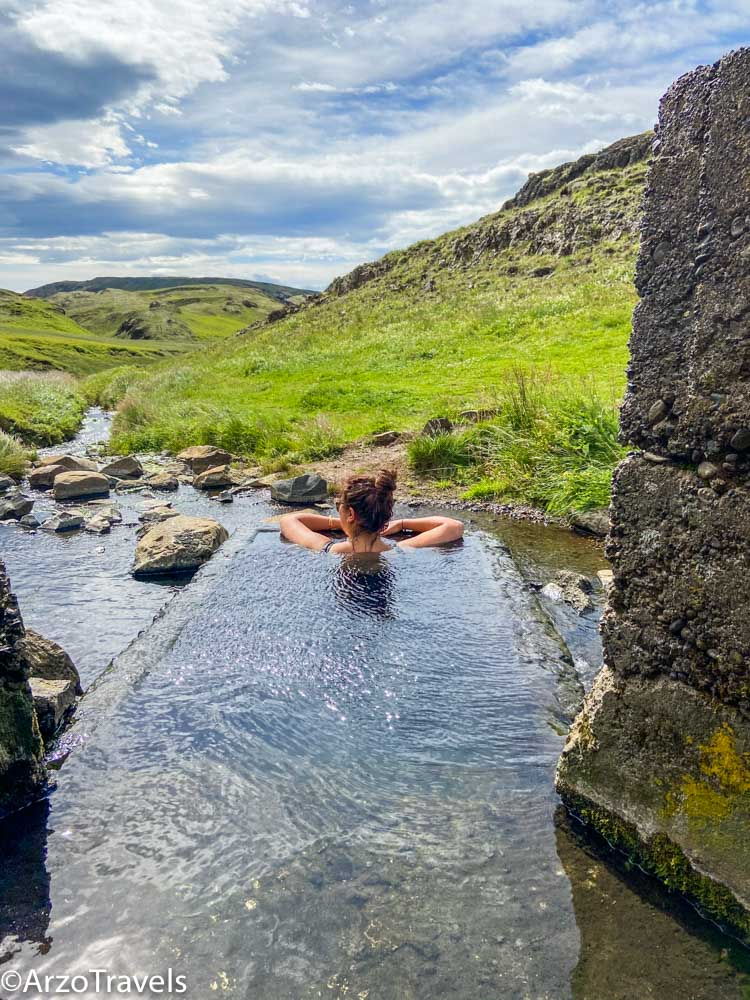 HRUNALAUG hot pools in Iceland